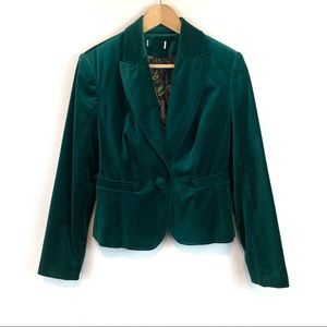 Worthington Green Crushed Velvet Blazer